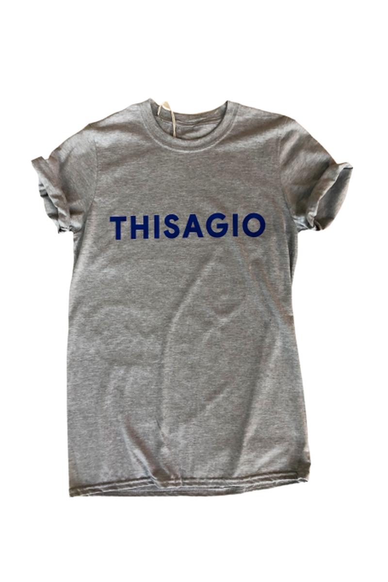 Thisagio Maglia grigia - Logo Blue Royal