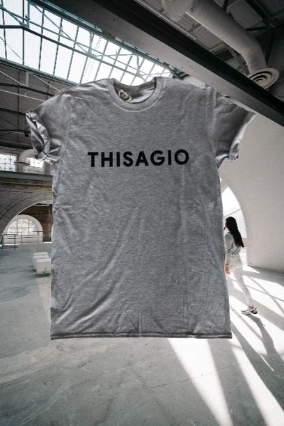 Thisagio Maglia grigia - Logonero