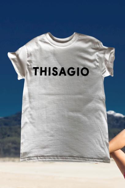 Thisagio Maglia Bianca - Logo nero