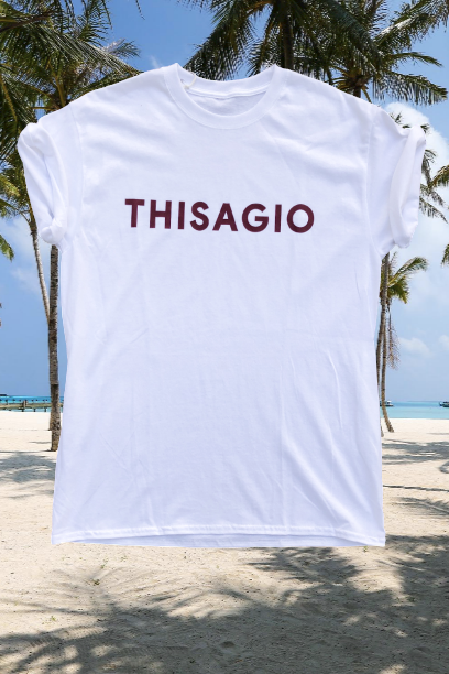 Thisagio Maglia bianca - Rosso Borghese